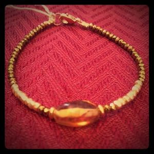 GENUINE AMBER Bracelet with Amber piece